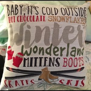 """Baby It's Cold Outside"" Holiday Christmas🎁Pillow"